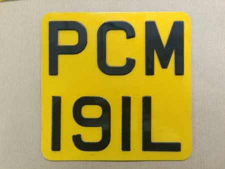 Reflective Motorcycle Plates. rmc 7x7