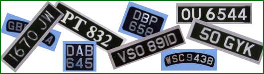 Plates Montage & Vintage and classic registration or licence plates by Tippers ...